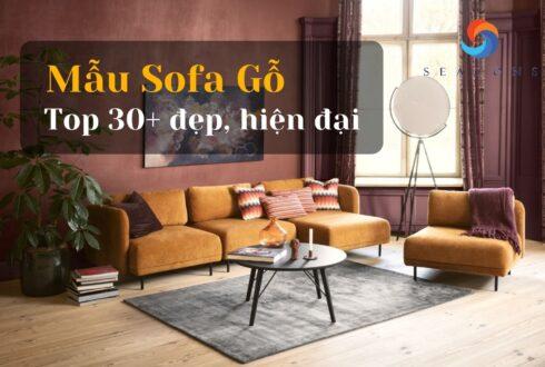 Top 30+ Mẫu sofa gỗ đẹp hiện đại nhất năm 2021