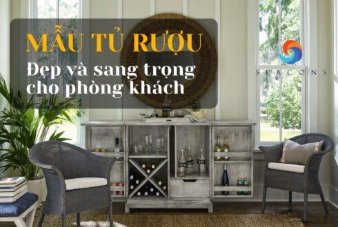 Top 30+ Mẫu tủ rượu đẹp và sang trọng cho phòng khách năm 2021